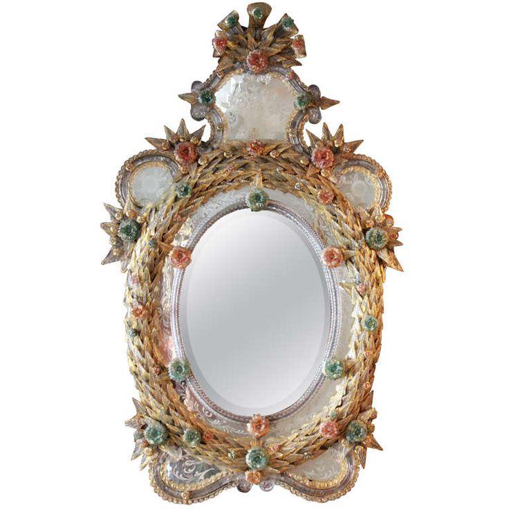 New 19th Century Venetian Glass Mirror Photo - Review venetian glass mirror