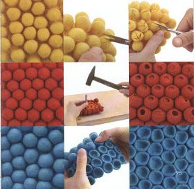 3 ways with ball felted samples