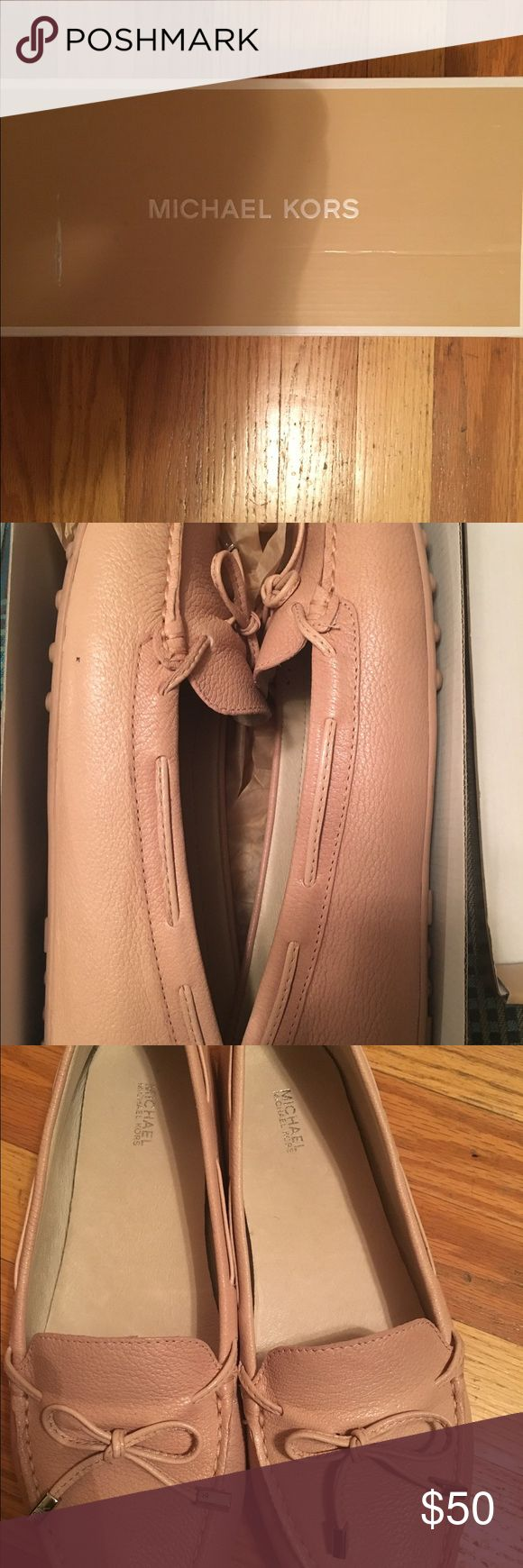 Michael Kors flats Soft pink Michael Kors flats. Size 11. Wore them twice. Purchased from Macy's. Comes with original box. Selling because I have no more room for shoes. Hopefully they can find a good home! No scuffs on the shoes. Michael Kors Shoes Flats & Loafers