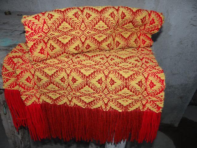"""Tejidos del Campo: Echarpe o Big scarf """"Snowflakes"""""""