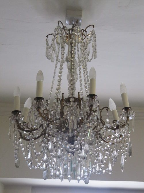 Antique Lighting, Antique French Chandeliers, A French Chandelier. A French  crystal-hung chandelier, 23 in. wide, 33 in. - 32 Best Crystal Chandelier Images On Pinterest Crystal