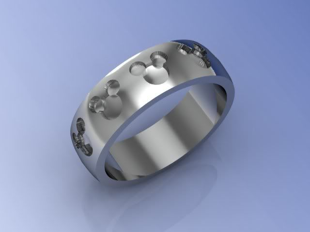Hidden Mickey Mouse Wedding Ring Mines The Top One Anne S Is Very Bottom