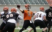 After Cincinnati president Mike Brown said the Bengals want AJ McCarron to take on the No. 2 quarterback position for the team in 2015, Cincinnati coach Marvin Lewis backed up that assessment.