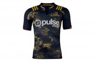 Highlanders 2017-18 Season Black Golden Rugby Jersey [J853]
