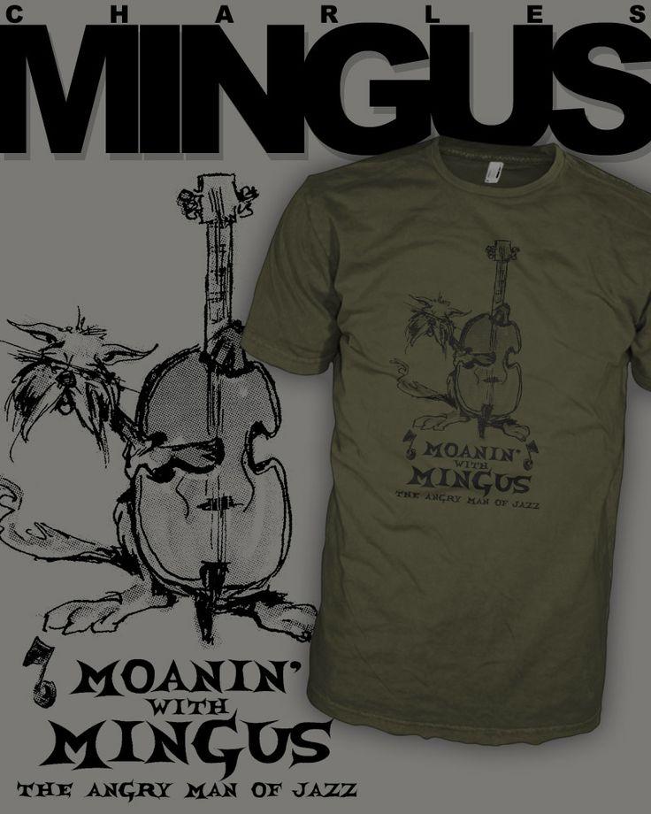 Charles Mingus Jazz Bass T-Shirt - Hard Bop - Moanin Alley Cat - Upright Bass