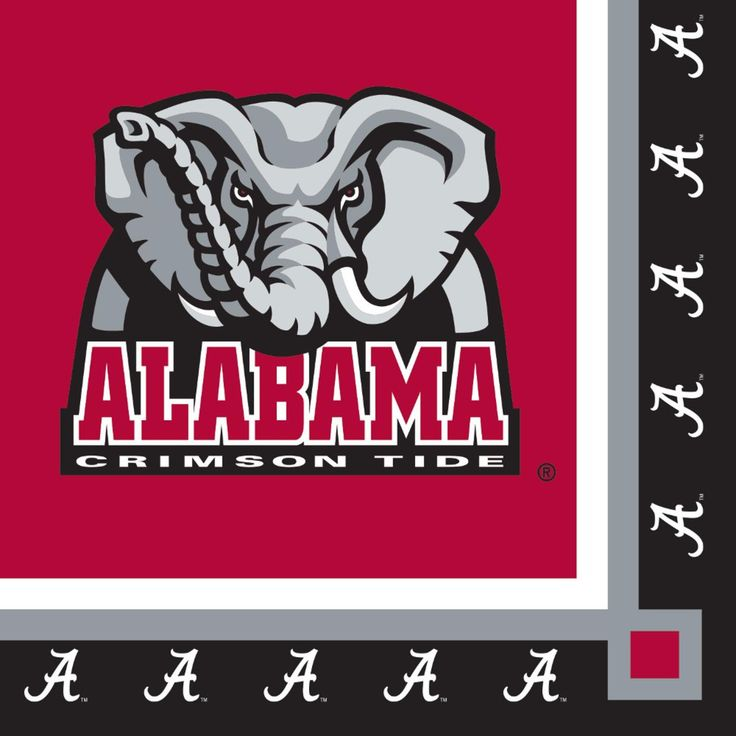 Club Pack of 240 Ncaa Univ of Alabama Premium 2-Ply Disposable Party Beverage Napkins 5, Red