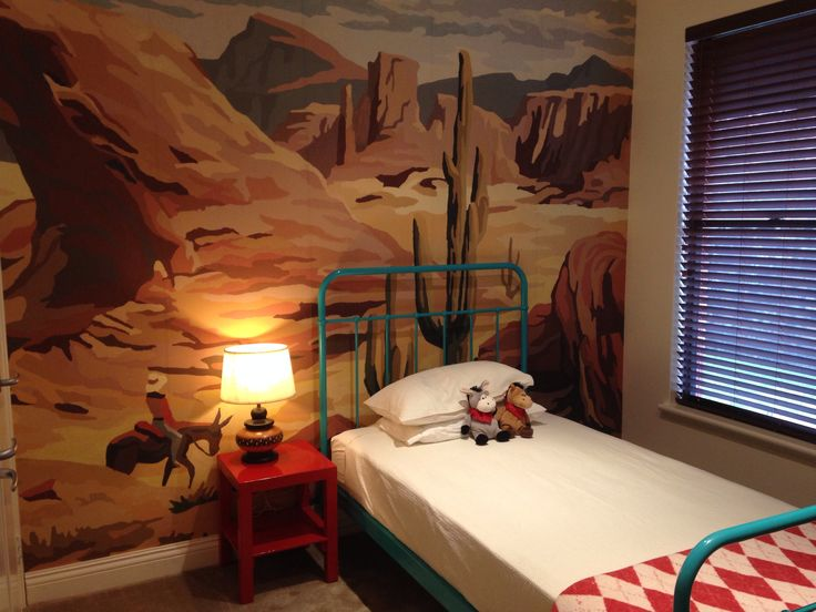 Vintage Cowboy and Indian Toddler Room