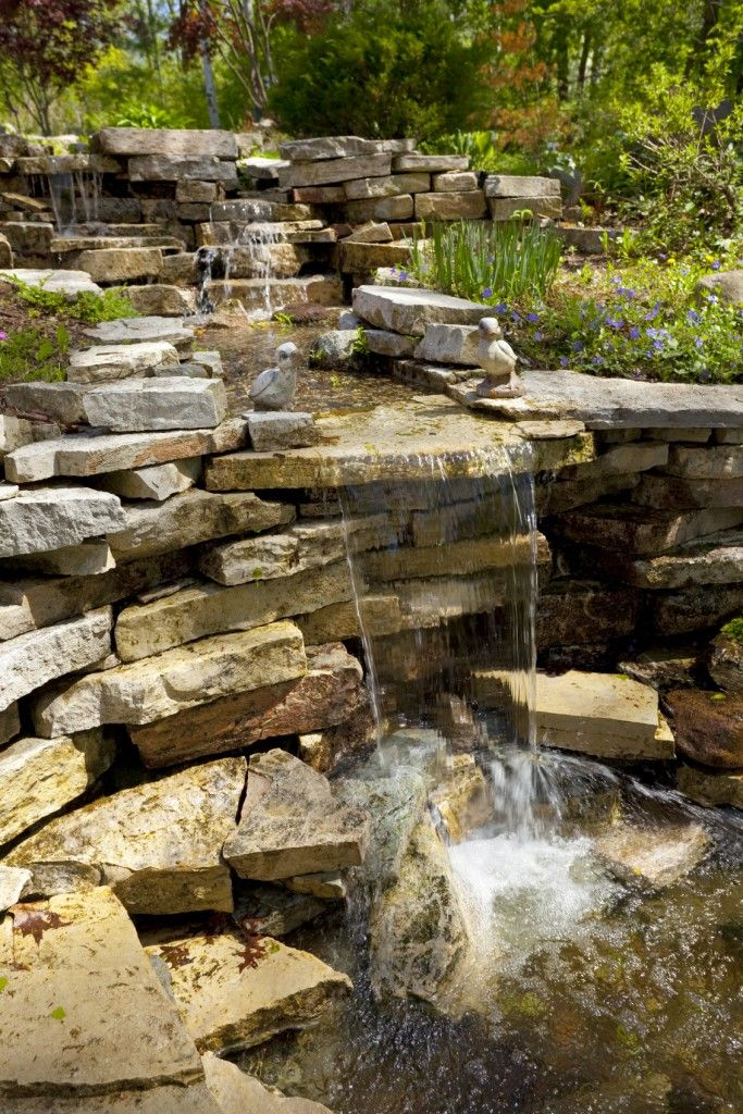 1000 images about backyard waterfalls and streams on for Pictures of backyard waterfalls