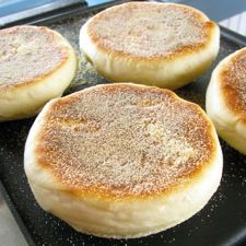Sourdough English Muffins: King Arthur Flour  I made these once and they are pretty great. Probably better with fed starter, though.