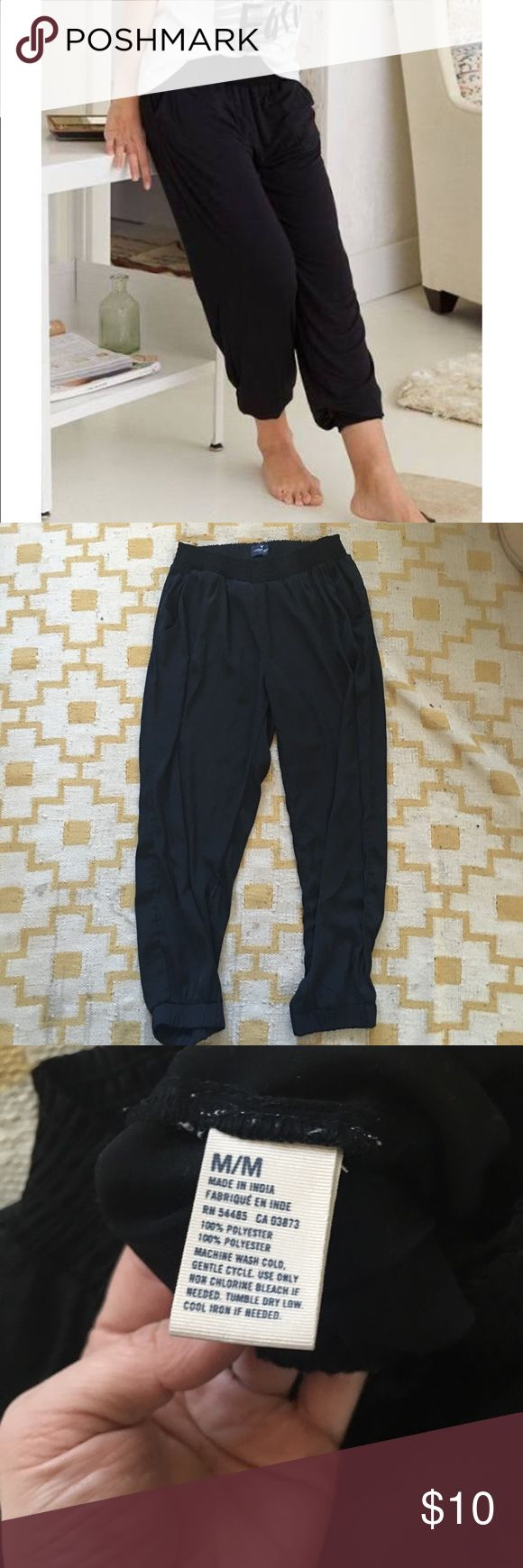 American eagle lightweight harem pants Lightweight material. Elasticated waist. Like new American Eagle Outfitters Pants Trousers