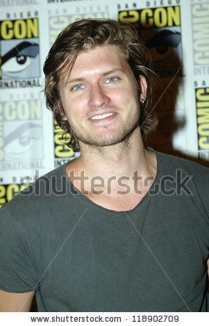 stock photo : SAN DIEGO, CA - JULY 15: Tom Weston-Jones arrives at the 2012 Comic Con convention press room at the Bayfront Hilton Hotel on Sunday, July 15, 2012 in San Diego, CA.