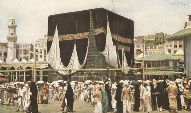 Hajj tour 1953 a rare pic of Kabba - A close up view of the Ka'ba.  #Hajj #Makkah #madinah  content source :- ilmfeed