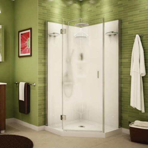 Maax 174 Daylight 36 Quot Neo Angle Shower Kit Center Blur