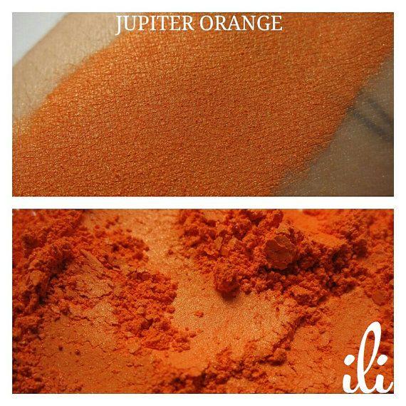Jupiter Orange  Brilliant Orange Pigment  by IliCosmetics on Etsy