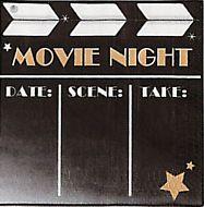 Movie Night Dinner Napkins