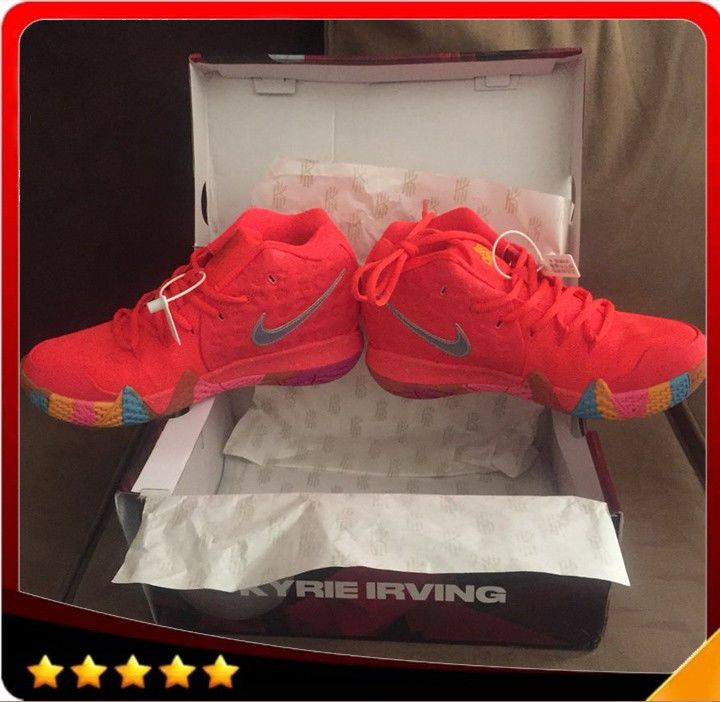 promo code 88339 7ca69 NikeHot Kyrie IV Lucky Charms Red Bright Crimson 4Y-13 ...