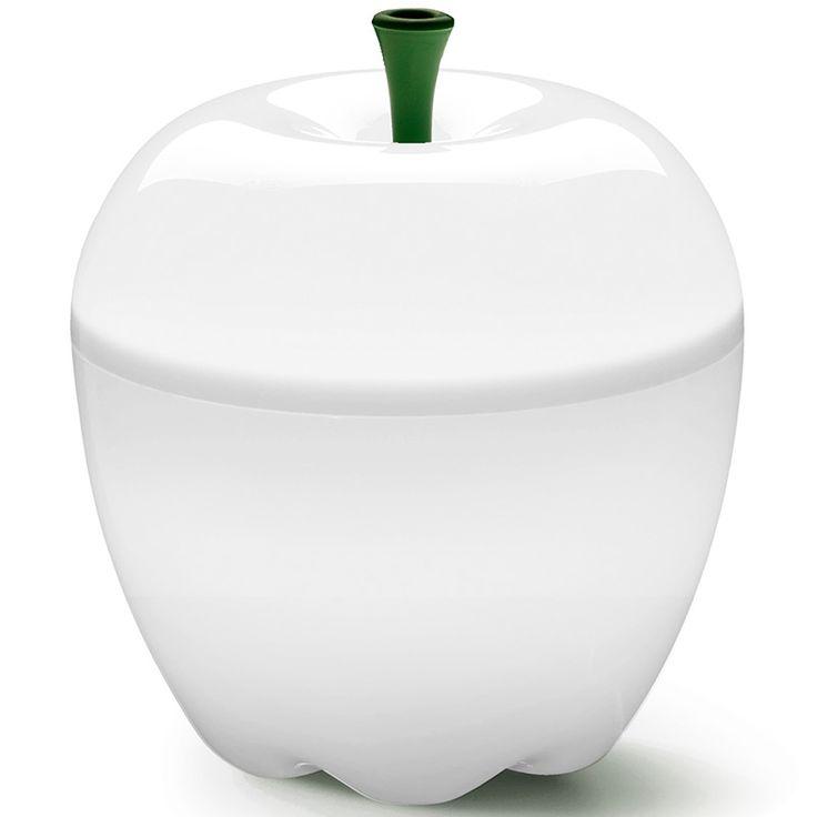 """Qualy– яркие, дизайнерские решения на каждый день! Лампы яблоки непременно займут особое место в Вашем доме. В спальне или гостиной, они создадут уютную атмосферу, рассеивая загадочный """"яблочный"""" свет! Можно создать великолепные световые композиции, используя лампы разных размеров и цветов. Упаковано в Eco friendly упаковку.             Материал: Пластик.              Бренд: Qualy.              Стили: Поп-арт, Скандинавский и минимализм.              Цвета: Белый."""