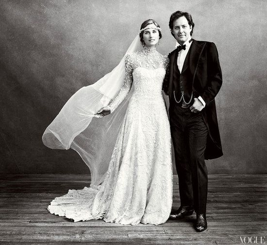 David Lauren and Lauren Bush shared pictures of their Sept. 2011 ceremony in Vogue.
