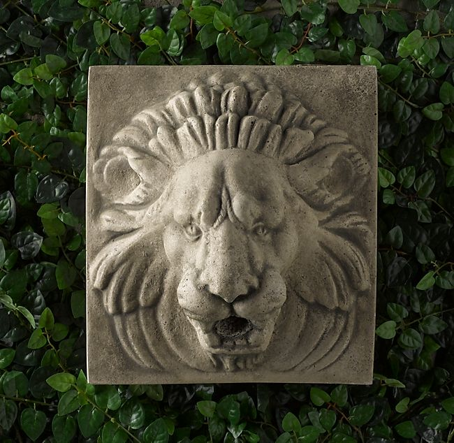 Lion Wall Plaque Water Feature Wall Wall Fountain Statuary