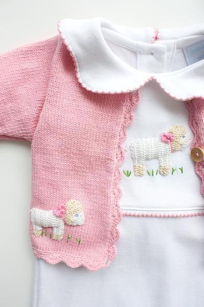 Sheep Crochet Sweater - Little English, classic children's clothing, preppy children's clothing, traditional children's clothing, classic baby