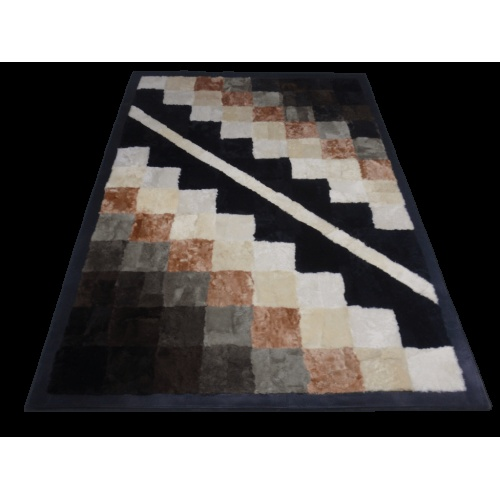 Furry rug from top quality sheepskin fur and sheep leather frame.     The ideal gift for you and your family