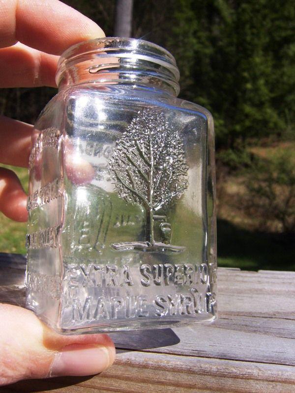 Antique maple bottle