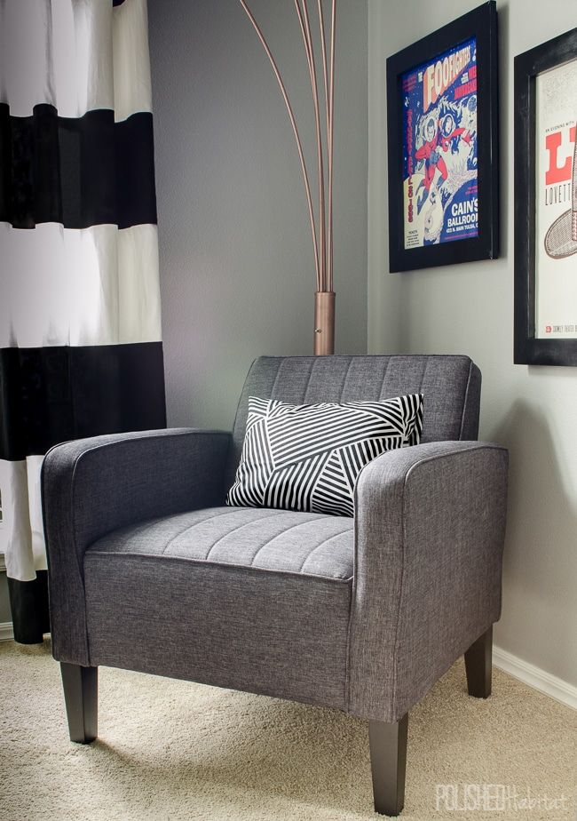 Shared Home Office Makeover-6 | Accent chairs, Cheap ...