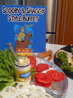 Scooby Doo Birthday Snacks make your own sandwich buffet idea for a birthday party