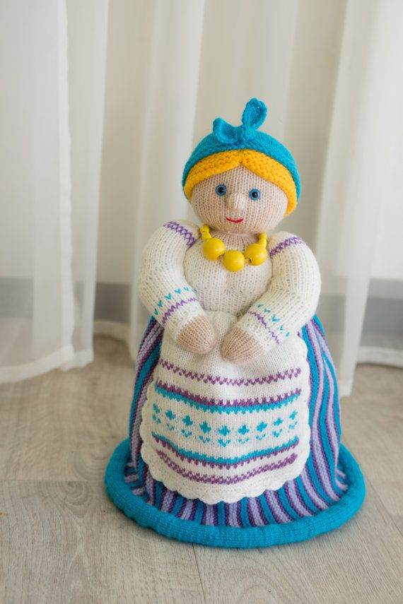 Doll maker. Doll for teapot. Present for tea fans. Doll maker crochet. Doll for teapot crochet. Doll maker handmade