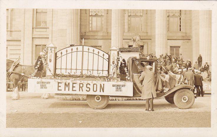 RP; Parade, WINNIPEG, Manitoba, Canada, 1931; Gateway City Lodge No. 4, Emerson,