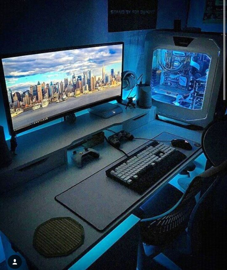 25 best pc gaming setup ideas on pinterest. Black Bedroom Furniture Sets. Home Design Ideas