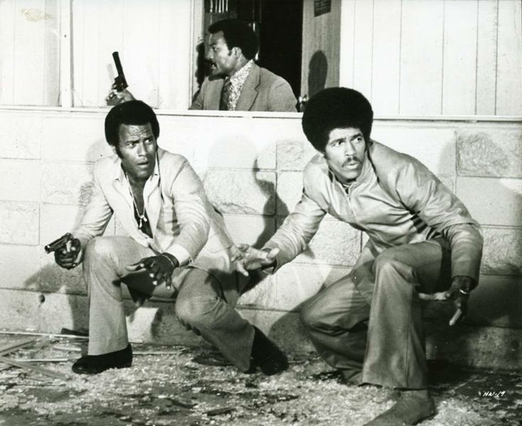 """Jim Brown, Fred Williamson, and Jim Kelly in Gordon Park's """" Three the Hard Way """""""