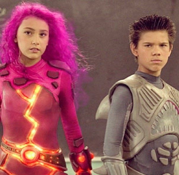 Shark boy and Lava girl for Vin and Mags costumes