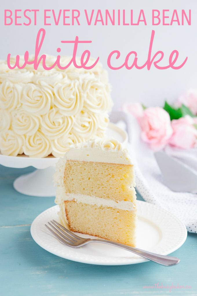 Awesome Best Ever Vanilla Bean White Cake Recipe With Images Best Funny Birthday Cards Online Overcheapnameinfo