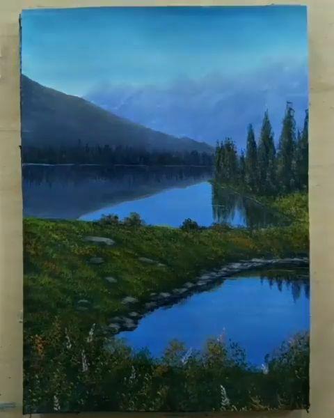 Landscape Paintings Videos Landscape Paintings Videos Landschaftsbilder Videos Peintur In 2020 Pretty Landscapes Landscape Painting Tutorial Landscape Paintings