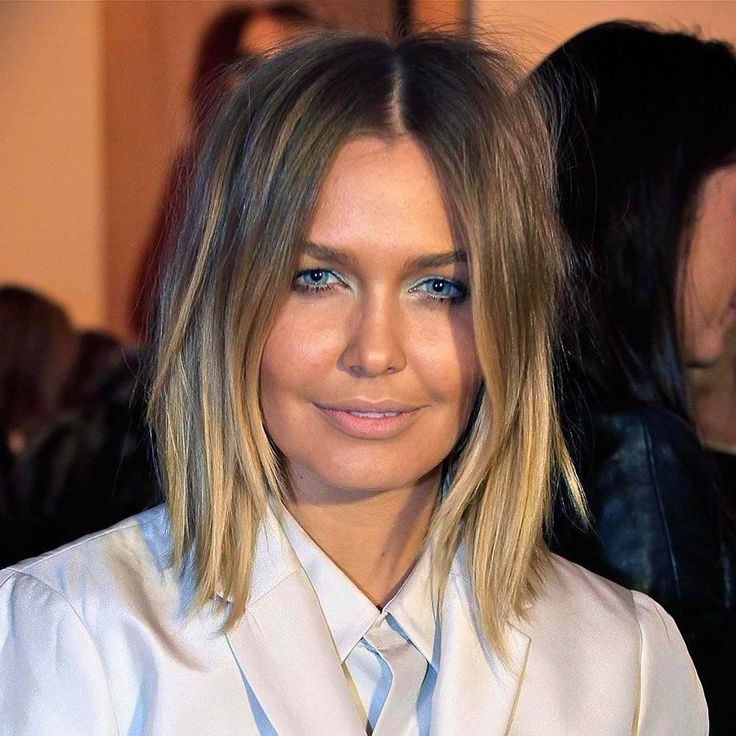 Ombr blonde messy bob long layers hairstyles for Long bob ombre