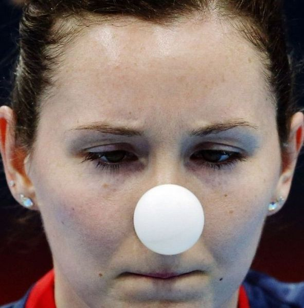 Table tennis players are such clowns...