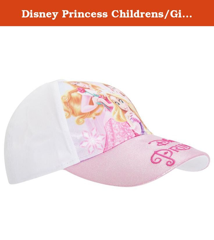 Disney Princess Childrens/Girls Baseball Cap (20.5in) (White). Girls Disney Princess baseball cap. Features Sleeping Beauty, Belle and Rapunzel. Touch fastening strap at rear. Available in two different colors. Fiber: Print - 100% Polyester, Fabric - 100% Cotton. Machine washable at 30c.