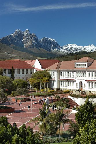 Red Square at University of Stellenbosch, #SouthAfrica