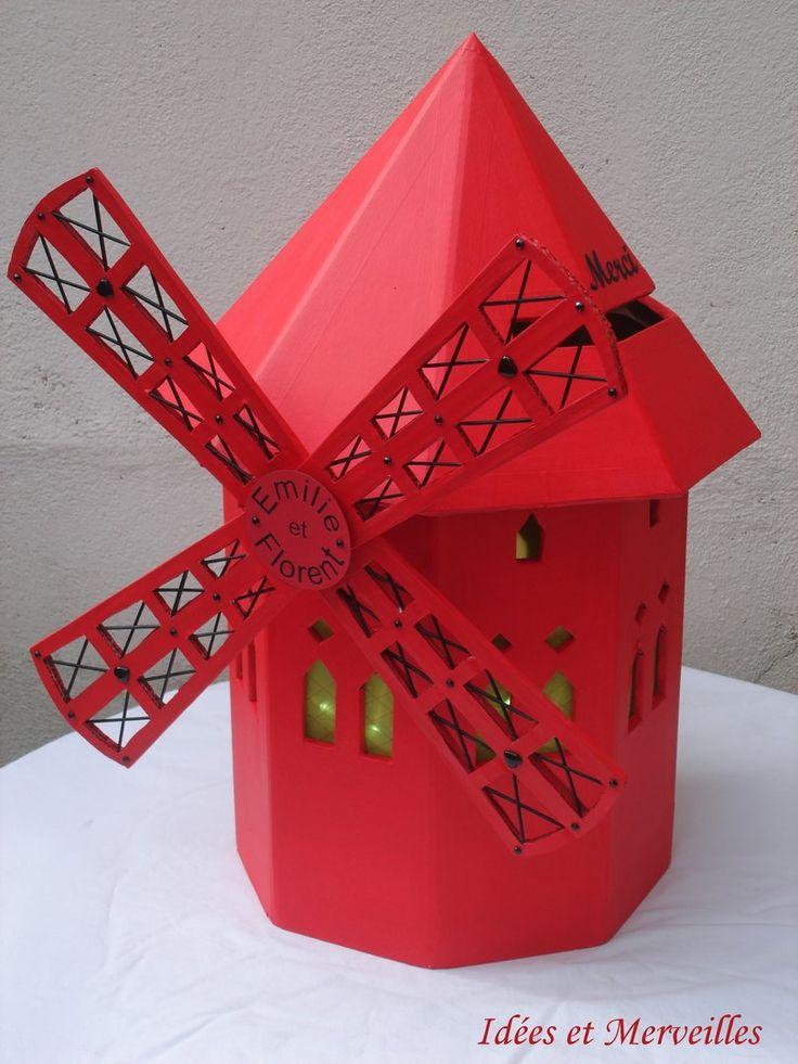 urne moulin rouge idees et merveilles mariage th me paris pinterest moulin rouge et rouge. Black Bedroom Furniture Sets. Home Design Ideas