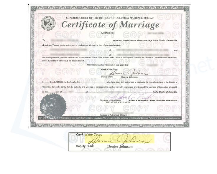 21 best District of Columbia images on Pinterest Colombia - sample marriage certificate