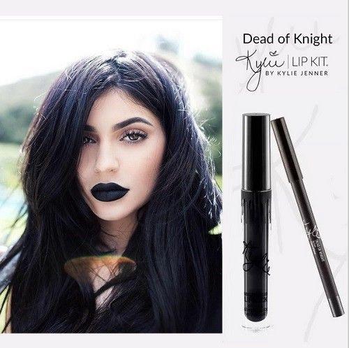 Kylie Jenner Dead of Knight Lip Kit Set Lipstick Liquid Matte Lip Liner #KylieJennerCosmetics