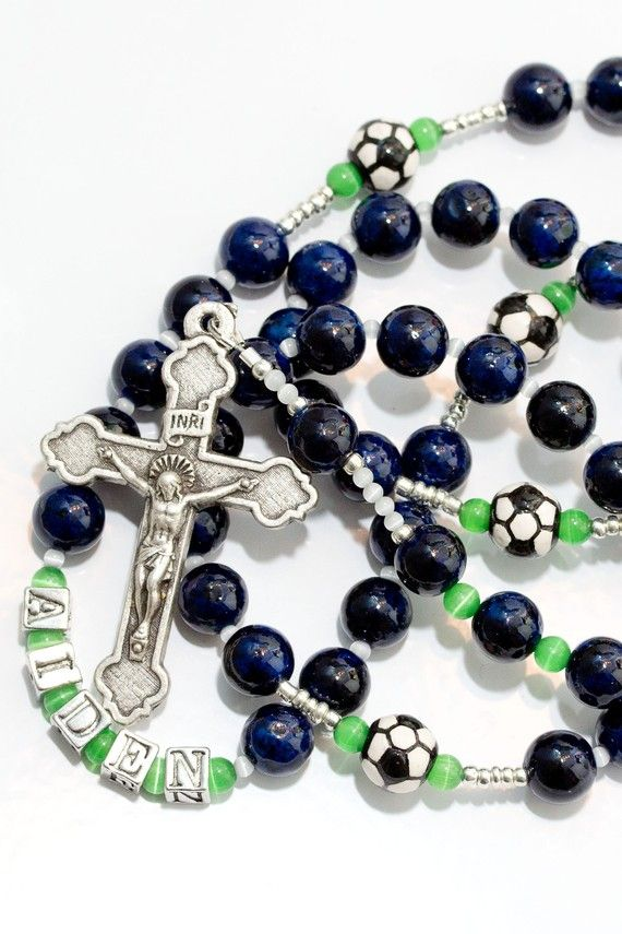 Personalized Boys Soccer First Communion by trendytraditionsbiz, $46.00