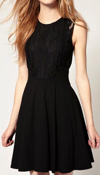 Korean lace waist dress 8229