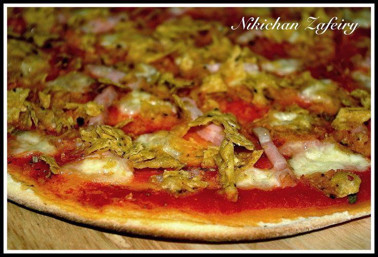 Pizza Chips de Maiz, Queso y Bacon