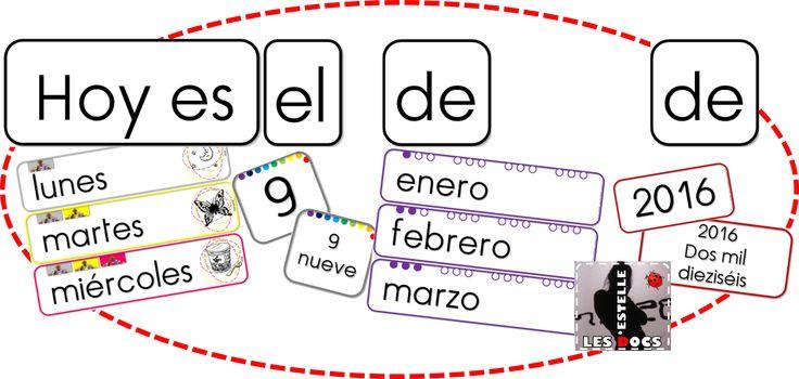 La date en espagnol : affichage et flashcards - Les docs d'Estelle