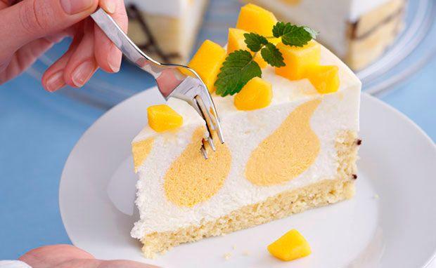 Von der Redaktion für Sie getestet: Buttermilch-Mango-Torte. Gelingt immer! Zutaten, Tipps und Tricks