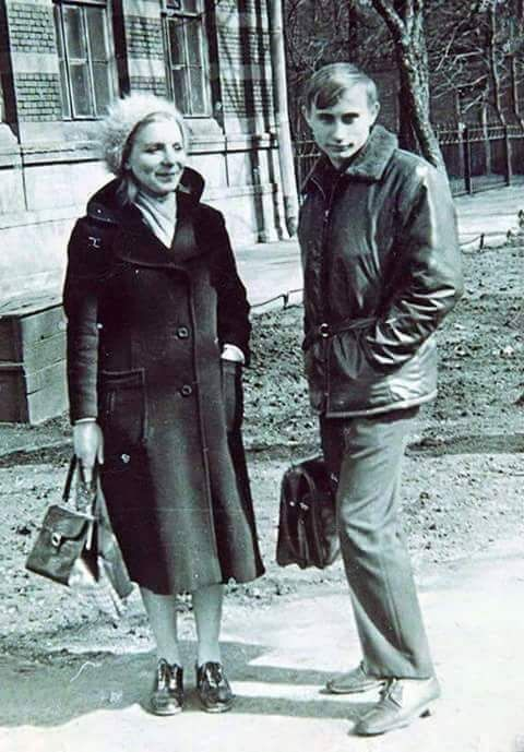 "whateveruseless: "" A young Vladimir Putin with his mother """