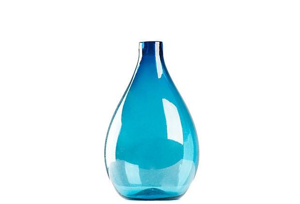 Zentique Pool Blue Vase, Sm.