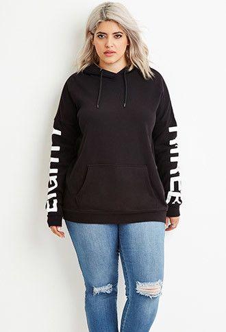 Plus Size 83 Graphic Hoodie | Forever 21 PLUS - #plussizefashion #curvyfashion #fallfashion